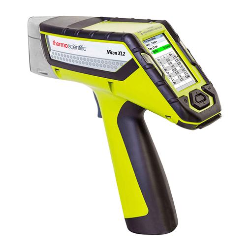 Vue de profil de l'analyseur xrf portable XL2 Plus